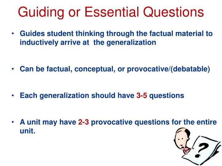 PPT - Guiding or Essential Questions PowerPoint Presentation - ID