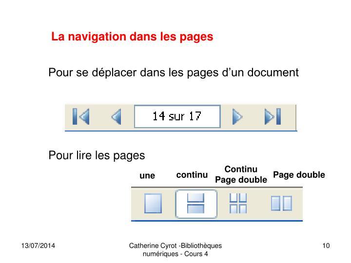 La navigation dans les pages