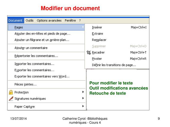 Modifier un document