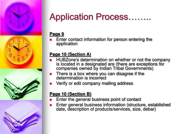 Application Process……..