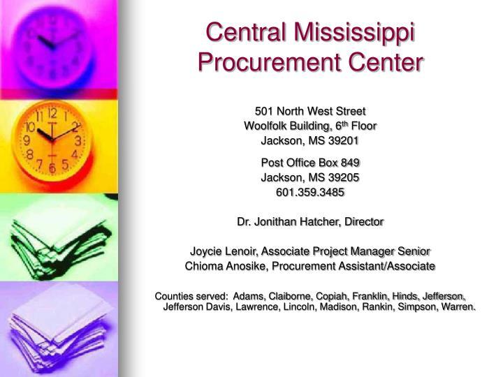 Central Mississippi Procurement Center