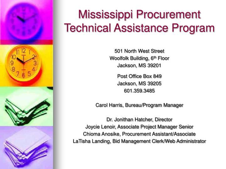 Mississippi Procurement Technical Assistance Program