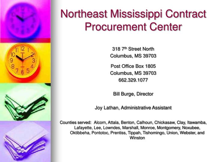 Northeast Mississippi Contract Procurement Center