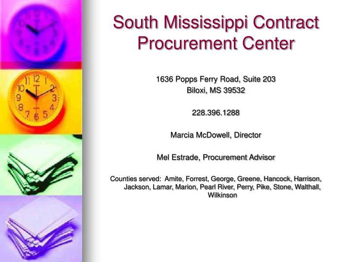 South Mississippi Contract Procurement Center
