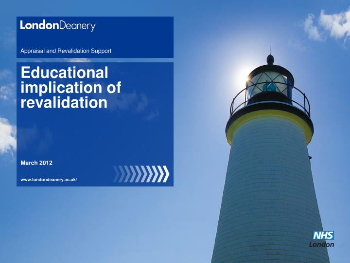 appraisal and revalidation support n.
