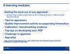 e learning modules