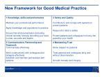 new framework for good medical practice