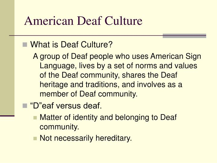 deaf culture Harinder malhi, parliamentary assistant to eleanor mcmahon, minister of tourism, culture and sport, was at the deaf culture centre in toronto today to announce.