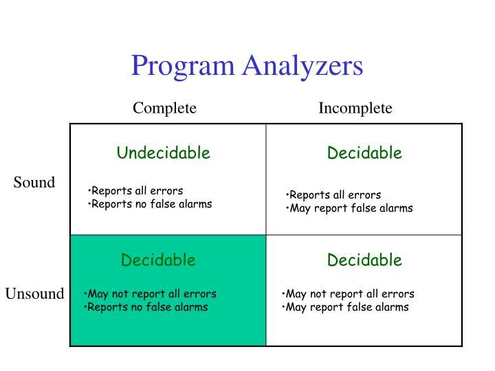 Program Analyzers
