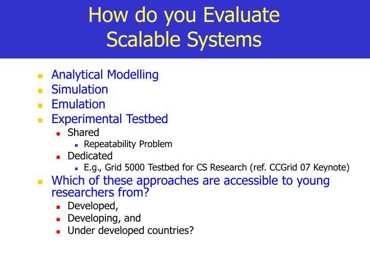 How do you Evaluate