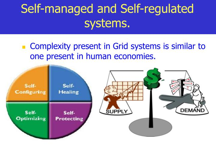 Self-managed and Self-regulated systems.
