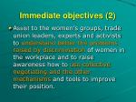 immediate objectives 2