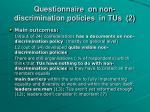 questionnaire on non discrimination policies in tus 2