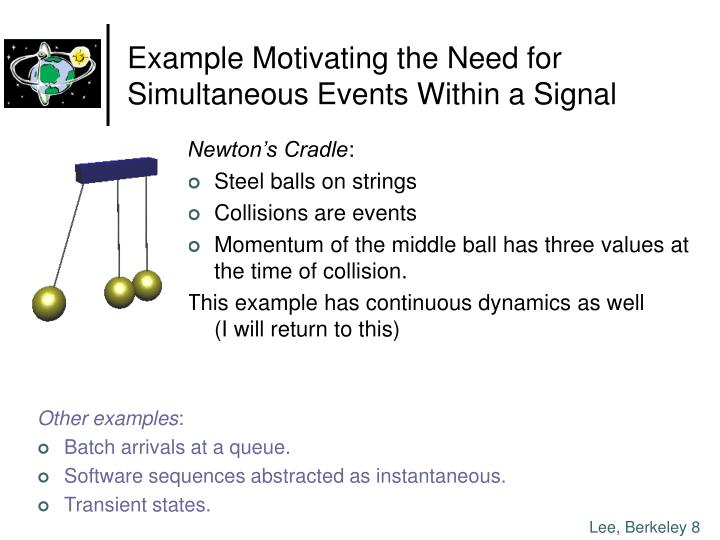 Example Motivating the Need for Simultaneous Events Within a Signal