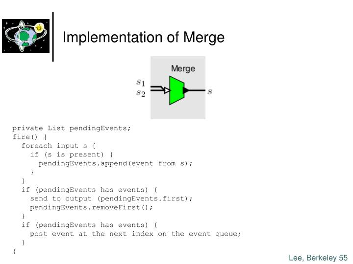Implementation of Merge