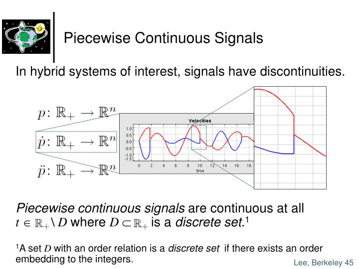 Piecewise Continuous Signals