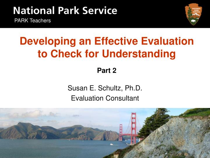 Developing an effective evaluation to check for understanding part 2