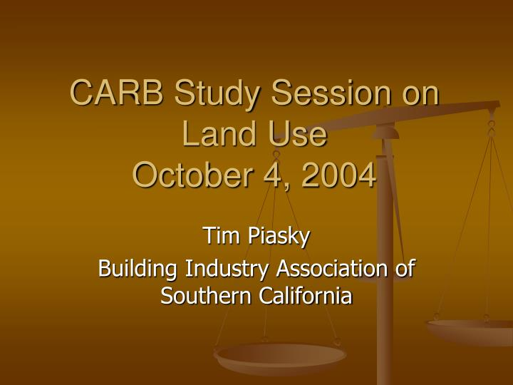 carb study session on land use october 4 2004 n.