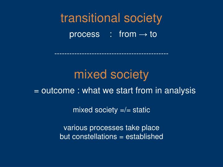 transitional society