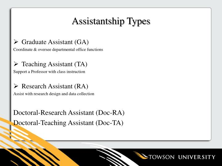 Assistantship Types