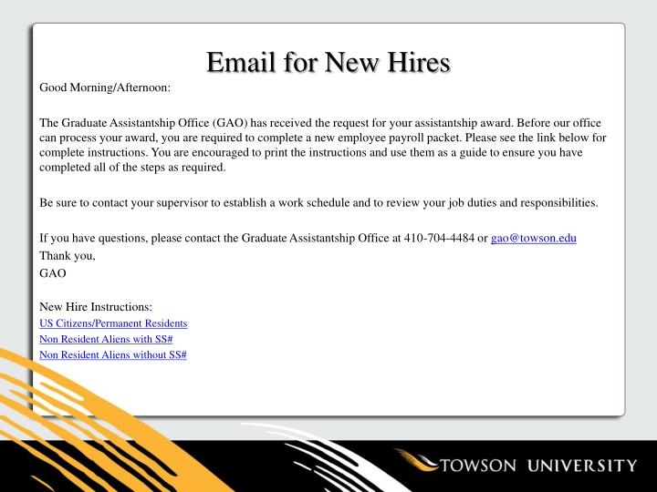Email for New Hires
