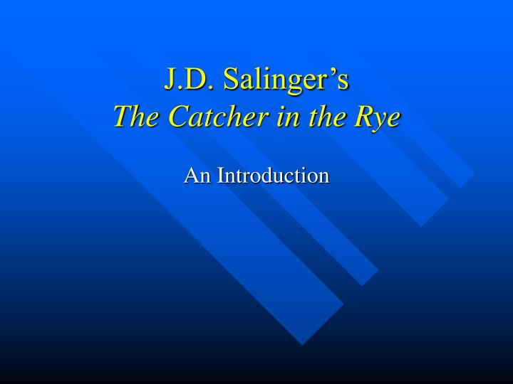 j d salinger how characters symbolize Sometimes it is emblematic of the values of the characters some of the most important symbols in the catcher in the rye are outlined in the jd salinger.