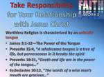 take responsibility for your relationship with jesus christ