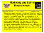 marketing and sports entertainment