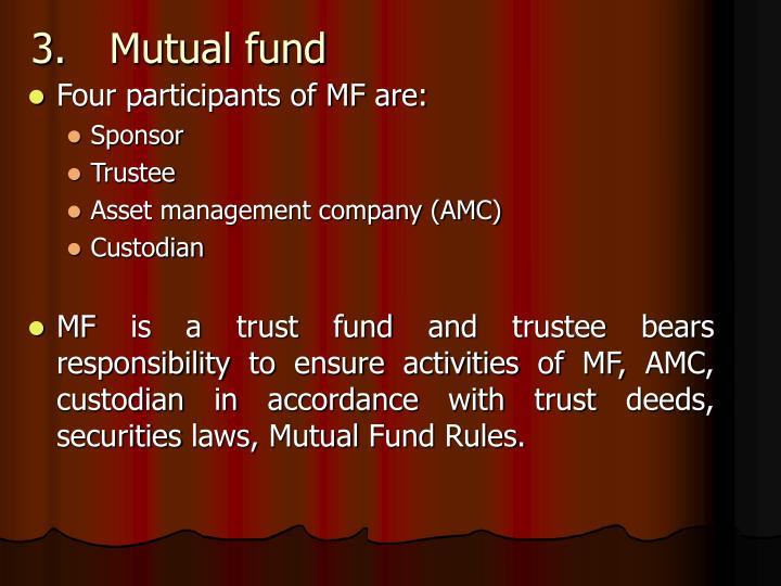 3.Mutual fund