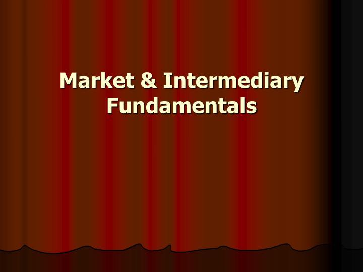 Market intermediary fundamentals