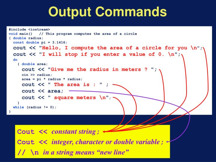 Output Commands