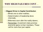 why high failures cont3