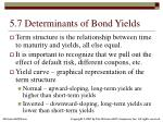 5 7 determinants of bond yields