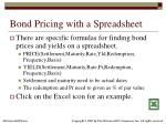 bond pricing with a spreadsheet