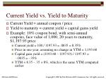 current yield vs yield to maturity
