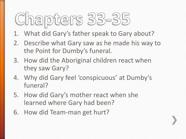 What did Gary's father speak to Gary about?