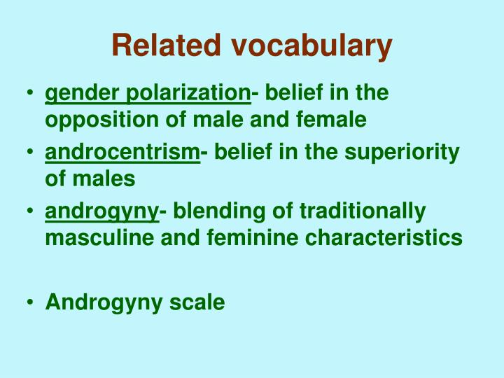 Related vocabulary