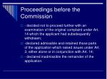 proceedings before the commission5
