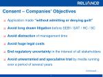 consent companies objectives