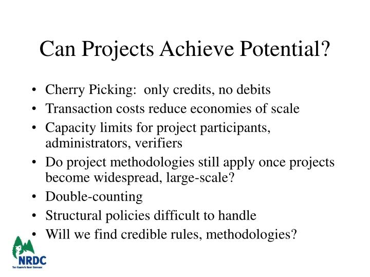 Can Projects Achieve Potential?