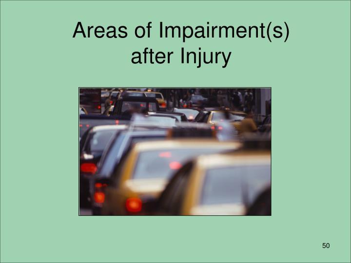 Areas of Impairment(s)