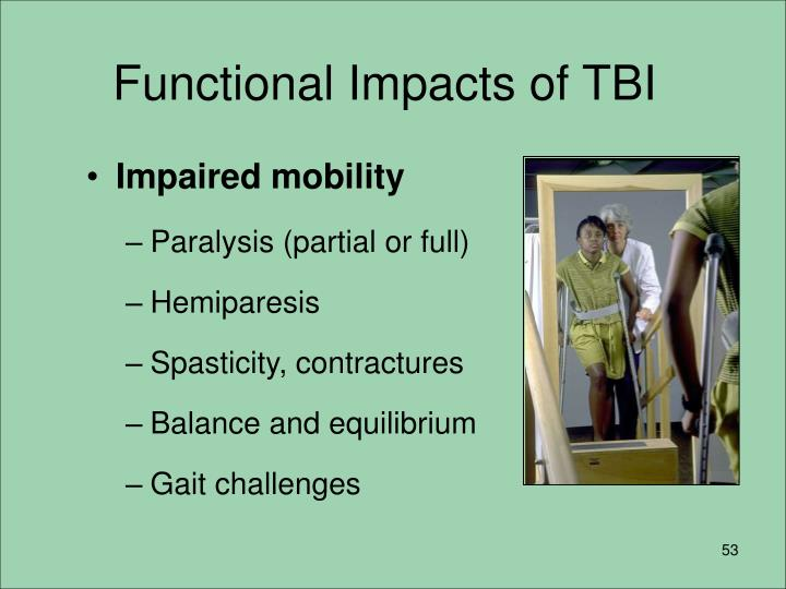 Functional Impacts of TBI