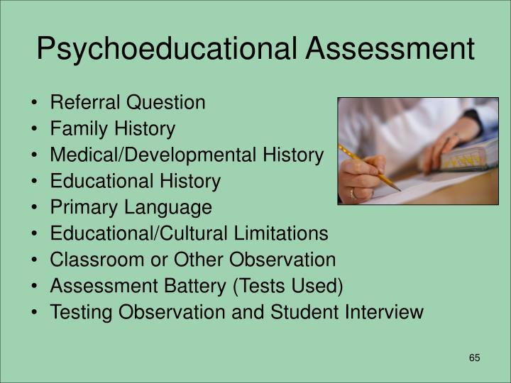 Psychoeducational Assessment