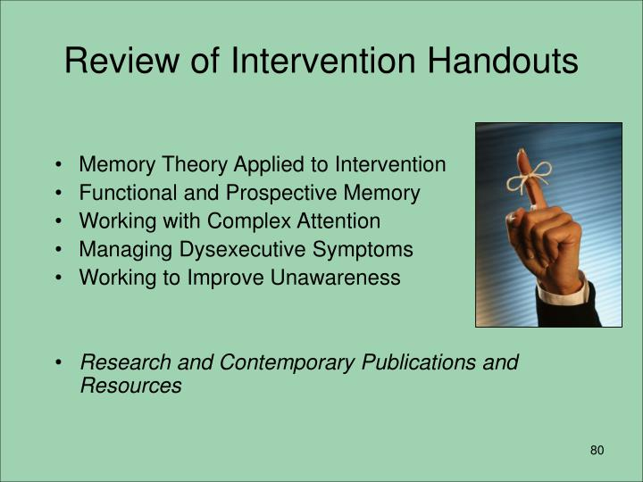 Review of Intervention Handouts