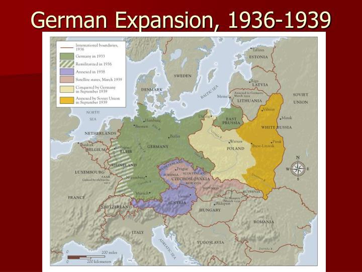 German Expansion, 1936-1939