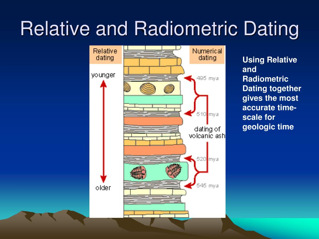 differences between relative dating and radiometric dating