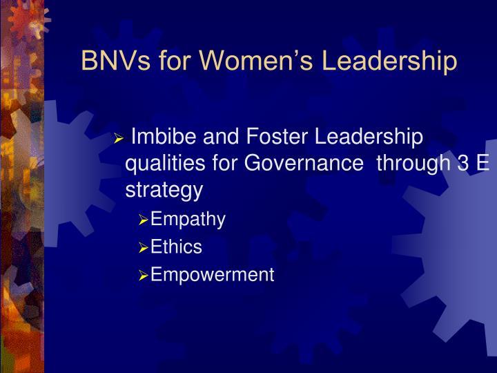 BNVs for Women's Leadership