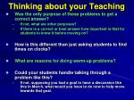 thinking about your teaching