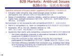 b2b markets antitrust issues b2b1