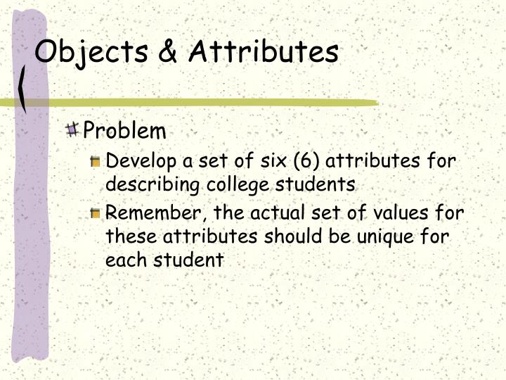 Objects & Attributes